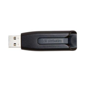Памет 64GB USB Flash Drive, Verbatim Store'n'Go V3, USB 3.0, черна image