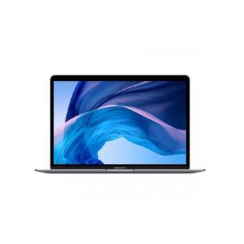"Лаптоп Apple MacBook Air 13 (2020)(MWTJ2ZE/A)(сив), двуядрен Ice Lake Intel Core i3-1000NG4 1.1/3.2 GHz, 13.3"" (33.78 cm) Retina IPS LED-backlit Display, (Thunderbolt), 8GB, 256GB SSD, Mac OS Catalina image"