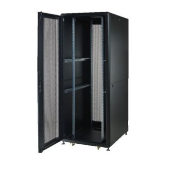 "Комуникационен шкаф Security Professionals MR.GTS42U61.01, 19"", 42U, 610 x 1000 x 2028, свободностоящ, товароносимост 2000кг, вентилационни отвори, черен image"