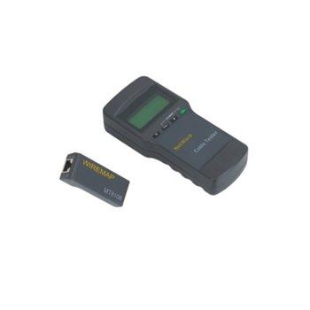 Тестер за LAN кабели, LCD дисплей, UTP, измерва разстояние image