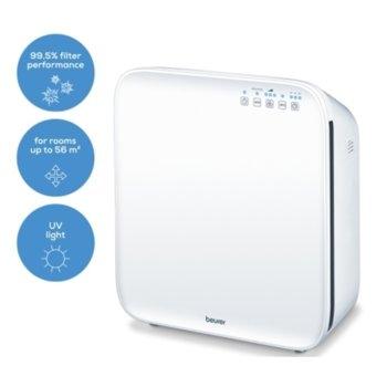 Пречиствател на въздух Beurer LR 310 Air purifier, 50W, за помещения до 56 м2, EPA филтър, бял image
