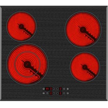 Плот за вграждане Arielli ACH-644BE, 4 нагревателни зони, индикатор за остатъчна топлина, сензорно управление, черен image