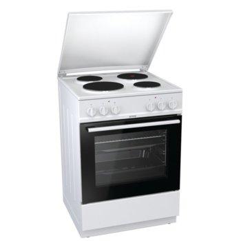 Готварска печка Gorenje E6141WB, клас A, 4 нагревателни зони, 67 л. обем, AquaClean почистване, система за сигурност, бяла  image