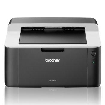 Лазерен принтер Brother HL-1112E, монохромен, 2400x600dpi, 20стр/мин, USB 2.0, A4, 2+1 г. image