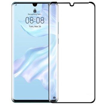 Протектор от закалено стъкло /Tempered Glass/, за Huawei P30 Pro, 5D, черна рамка image