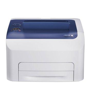 LED принтер Xerox Phaser 6022, цветен, 1200x2400dpi, 18стр/мин, 256MB, LAN/Wi-Fi, USB image