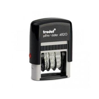 Датник Trodat 4820, правоъгълен, височина на шрифта 4.0 mm, с автоматично омастиляване image