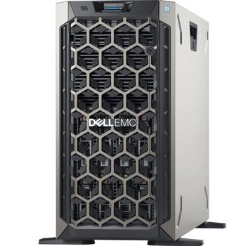 Сървър Dell EMC PowerEdge T340 (PET340WCISM01), четириядрен Coffee Lake Intel Xeon E-2224 3.4/4.6 GHz, 16GB DDR4 UDIMM, 1000GB HDD, без ОС, 1x 495W  image