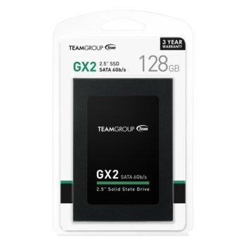 """Памет SSD 128GB Team Group GX2, SATA3 6Gb/s, 2.5""""(6.35 cm), скорост на четене 500MB/s, скорост на запис 320MB/s image"""