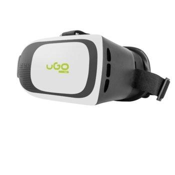 Очила за виртуална реалност uGo VR UVR-1025 за телефон, черно с бяло image