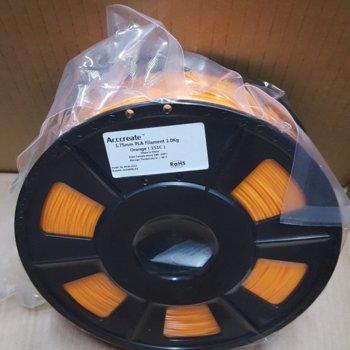 Консуматив за 3D принтер Acccreate, PLA filament, 1.75mm, оранжев, 1kg image