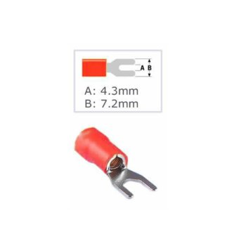 Кабелна обувка Fast On ST-013, 100 бр., червена image