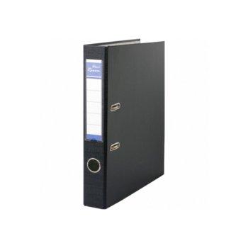 Класьор Rexon, за документи с формат до A4, дебелина 5см, с метален кант, черен image