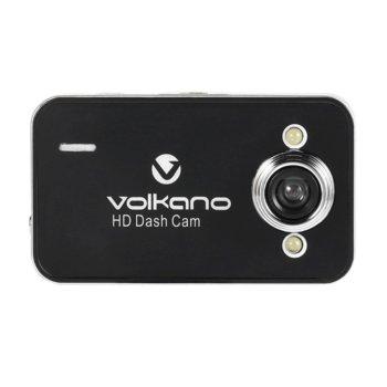 """Видеорегистратор Volkano Street Series HD, камера за автомобил, HD(1280x720@30FPS), 2.4"""" (6.096 cm) LCD дисплей, 120° ъгъл на снимане, microSD слот, черен image"""