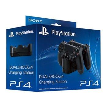 Станция за зареждане на DualShock 4, черна, за PS4 image