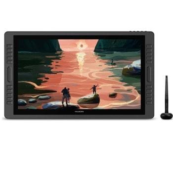 """Графичен таблет Huion Kamvas Pro 22 2019 (черен), 21.5"""" (54.61 cm) Full HD IPS дисплей, 5080 lpi, 8192 ниво на натиск, USB Type C, писалка image"""
