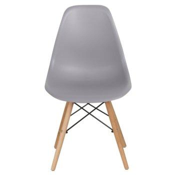Трапезен стол Carmen 9957, крака от бук и метални подсилващи елементи, сив image