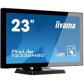 "Монитор Iiyama Prolite T2336MSC-B2, 23""(58.42 cm) IPS тъч панел, Full HD, 5ms, 5 000 000:1, 250 cd/m2, HDMI, DVI, VGA image"