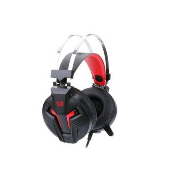 Слушалки Redragon Memecoleous H112, микрофон, 2 м. кабел, 3.5mm позлатено конектор, черни/червени image