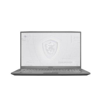 "Лаптоп MSI Workstation WF75 10TJ (WF7510TJQUADT20004GFHD144)(сив), шестядрен Comet Lake Intel Core i7-10750H 2.6/5.0 GHz, 17.3"" (43.94 cm) Full HD IPS 144Hz Display & Quadro T2000 4GB, (HDMI), 16GB DDR4, 1TB HDD & 512GB SSD, 3x USB 3.2, Windows 10  image"