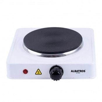 Електрически котлон Albatros AP16W, 1 нагревателна зона, механично управление, защита от прегряване, 1500 W, работен светодиод, бял image