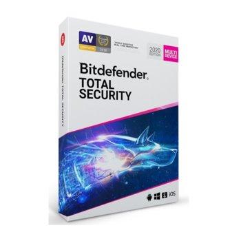 Софтуер Bitdefender Total Security, 5 потребителя, 1 година image
