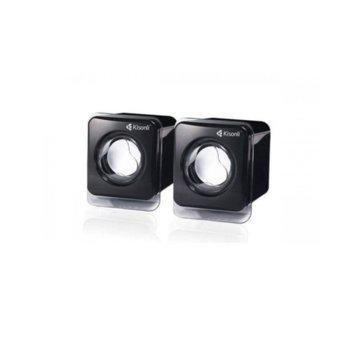 Тонколони Kisonli V410, 2.0, USB, черни image