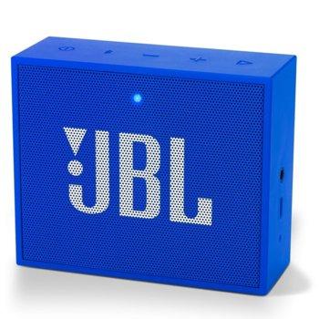 Тонколона JBL GO Plus, 1.0, 3W, Bluetooth, 3.5 mm jack, до 5 часа време на работа, син image
