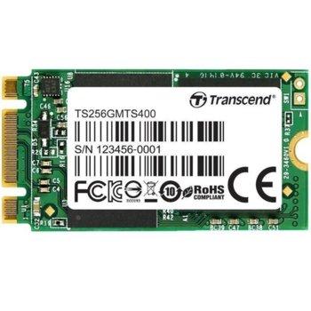 Памет SSD 256GB, Transcend MTS400S, SATA 6Gb/s, M.2, скорост на четене 560MB/s, скорост на запис 460MB/s image