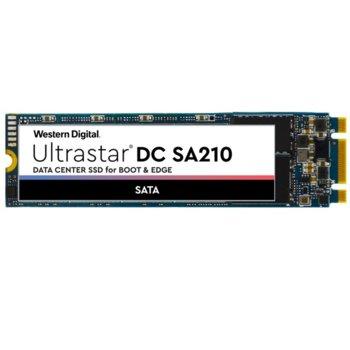 Памет SSD 240GB WD Ultrastar DC SA210, SATA 6Gb/s, M.2 2280, скорост на четене 510 MB/s, скорост на запис 475 MB/s image