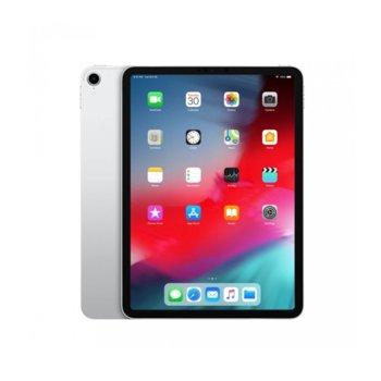 """Таблет Apple iPad Pro (2018)(MU0U2HC/A)(сребрист), LTE, 11"""" (27.94 cm) Liquid Retina дисплей, осемядрен A12X Bionic, 4GB RAM, 64GB Flash памет, 12.0 & 7.0MPix камера, iOS 12, 468g image"""