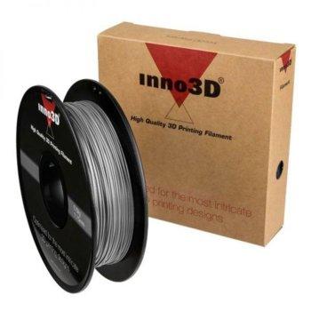 Консуматив за 3D принтер Inno3D, PLA Silver, 1.75mm, сребрист, 500g, пакет от 5 броя image