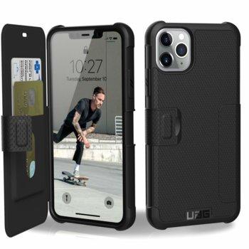 Калъф за Apple iPhone 11 Pro Max, тип портфейл, хибриден, Urban Armor Metropolis 111726114040, удароустойчив, черен image