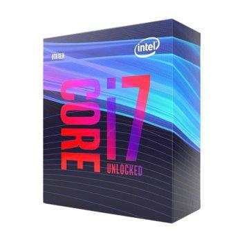 Процесор Intel Core i7-9700K осемядрен (3.6/4.9 GHz, 12 MB SmartCache, 350 MHz-1.20 GHz,LGA1151) Box, без охлаждане image