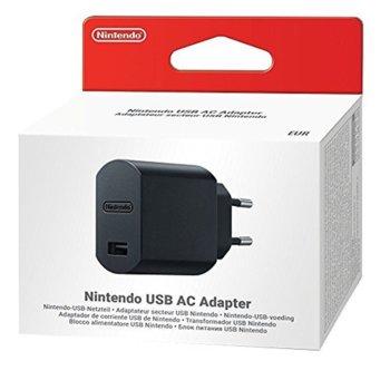 Мрежово зарядно устройство Nintendo USB AC Adapter, от контакт към 1x USB Type-A(ж), за Nintendo SNES / Mini SNES, черно image