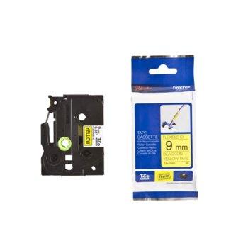 ЛЕНТА ЗА ЕТИКЕТНИ ПРИНТЕРИ BROTHER ТИП TZ - 9mm BLACK ON YELLOW TAPE , Flexible ID - P№TZEF621 image