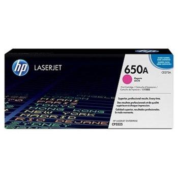 КАСЕТА ЗА HP Color LaserJet CP5520 - Magenta - 650A - P№ CE273A - заб.: 15 000k image
