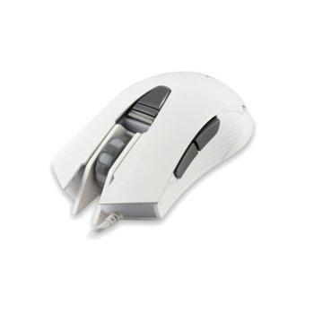 Мишка WHITE SHARK Genghis Khan GM-1602, оптична (4800 dpi), гейминг, USB 2.0, бяла, 6 бутона, LED подсветка image