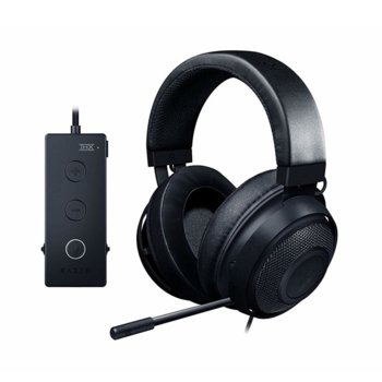 Слушалки Razer Kraken Tournament Edition, микрофон, гейминг, USB, бързи бутони, THX Spatial Audio, алуминиева рамка, черни image