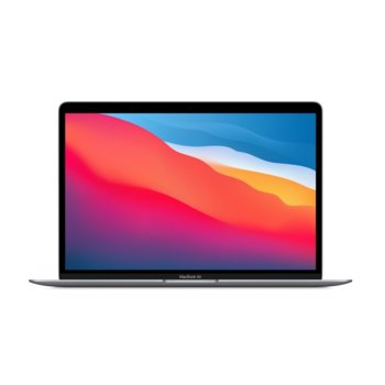 "Лаптоп Apple MacBook Air 13.3 (MGN63ZE/A)(сив), осемядрен Apple M1 3.20 GHz, 13.3"" (33.78 cm) Retina IPS LED-Backlit Display, (Thunderbolt 3), 8GB, 256GB SSD, 2x Thunderbolt 3, macOS image"