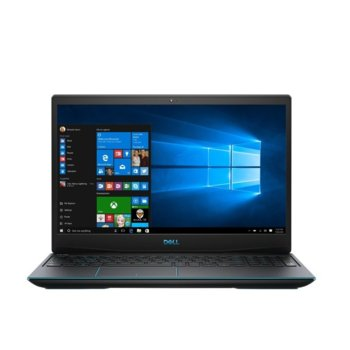 "Лаптоп Dell Inspiron G3 3590 (DI3590I79750H8G128G1T1650_UBU-14), шестядрен Coffee Lake Intel Core i7-9750H 2.6/4.5 GHz, 15.6"" (39.62 cm) Full HD Anti-Glare Display & GTX 1650 4GB, (HDMI), 8GB DDR4, 128GB SSD & 1TB HDD, 1x USB type C, Linux image"