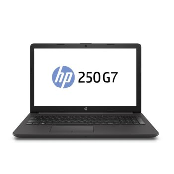"Лаптоп HP 250 G7 (6MR06EA), двуядрен Gemini Lake Intel Celeron N4000 1.1/2.6 GHz, 15.6"" (39.6 cm) HD SVA Anti-Glare Display, (HDMI), 8GB DDR4, 256GB SSD, 2x USB 3.1, Free DOS image"