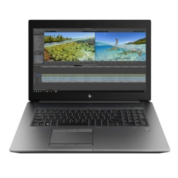 "Лаптоп HP ZBook 17 G6 8JL97EA (сив), осемядрен Coffee Lake Intel Core i9-9880H 2.3/4.8 GHz, 17.3"" (43.94 cm) Full HD IPS Display & Quadro RTX 3000 6GB, (mDP), 32GB DDR4, 1TB SSD, 2x USB Type-C, Windows 10 Pro image"