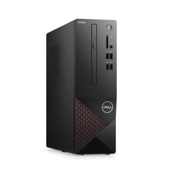 Настолен компютър Dell Vostro 3681 SFF (N304BVD3681EMEA01_2101), четириядрен Comet Lake Intel Core i3-10100 3.6/4.3 GHz, 8GB DDR4, 256GB SSD, 4x USB 3.2, клавиатура и мишка, Windows 10 Pro image