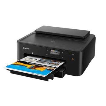 Мастиленоструен принтер Canon Pixma TS705, цветен, 4800 x 1200 dpi, 15 стр. минута, Gigabit Ethernet, Wi-Fi, USB, А4 image
