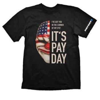 Тениска Gaya Entertainment Payday 2: Dallas Mask, размер XL, черна image