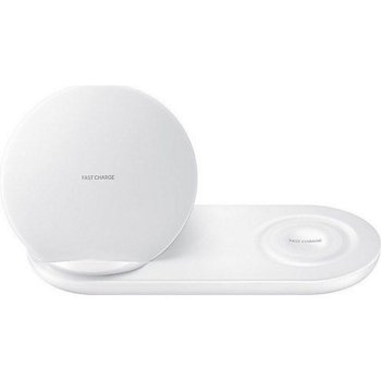 Безжично зарядно Samsung Wireless Charger Duo (Смартфон & смарт часовник), бял image