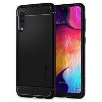 Калъф за Samsung Galaxy A50, силиконов, Spigen Rugged Armor Case, черен image