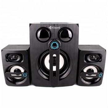 Мини Аудио Система Kisonli ТМ-9000А, 2.1, 10W, 3.5mm стерео, черен image