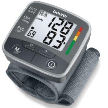 Апарат за кръвно налягане Beurer BC 32, цветна индикация за рискови стойности, индикатор при аритмия, сив image